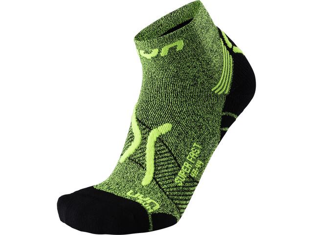 UYN Run Super Fast Socks Herr yellow fluo melange/black